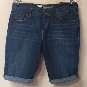 "Old Navy Sweetheart 9"" denim jean shorts"